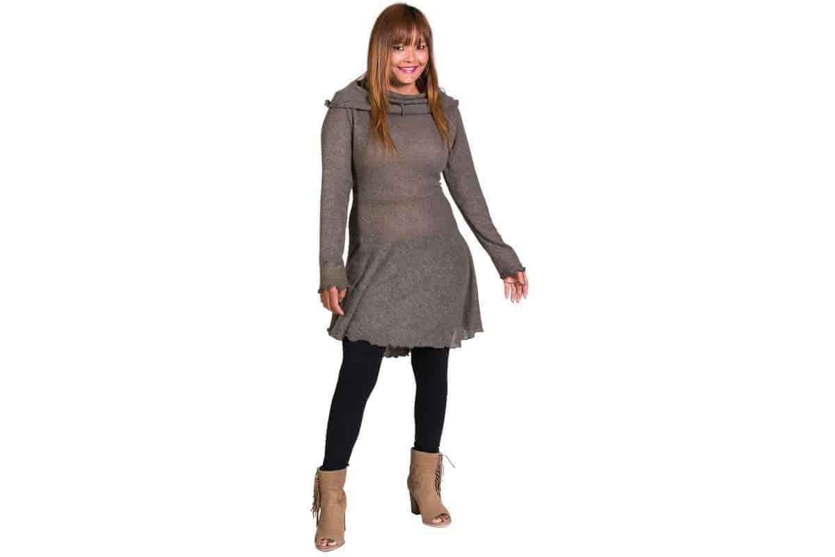 Keyhole Sweater Dress