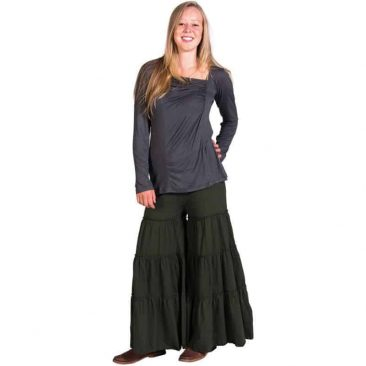 Pleated Platzo Pants