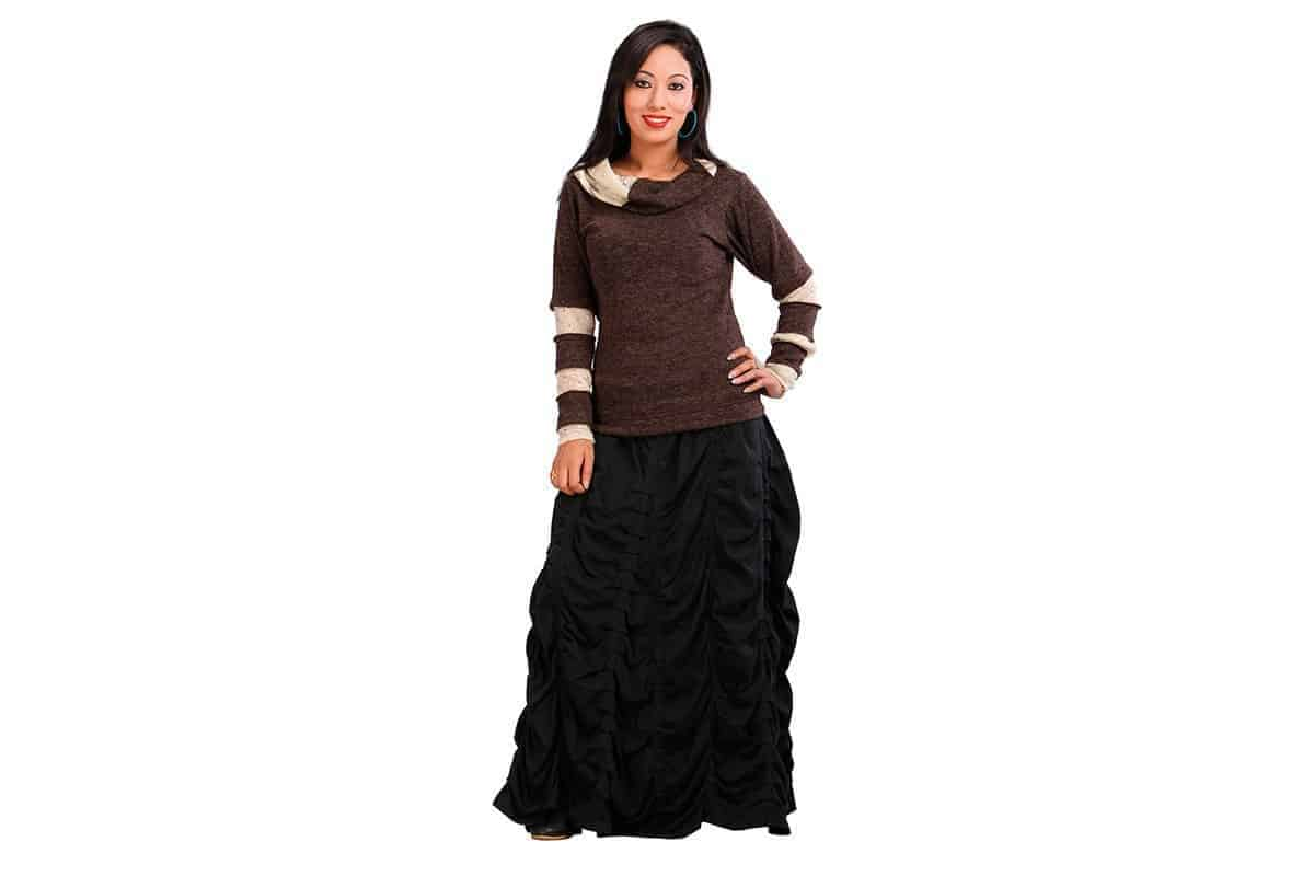 Pleated Roll Skirt