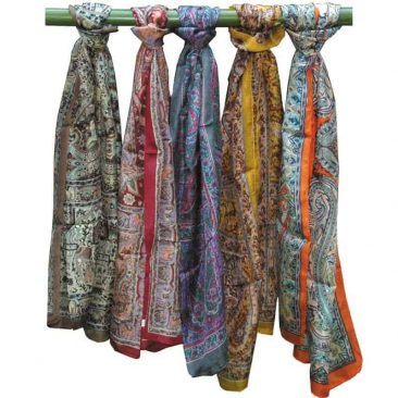 Silk Printed Long Scarf