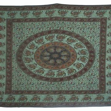 Single Size Ethnic Over Dyed Tapestry