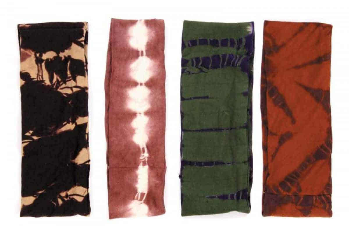 Stretchy Cotton Tie Dyed Tube Head Band