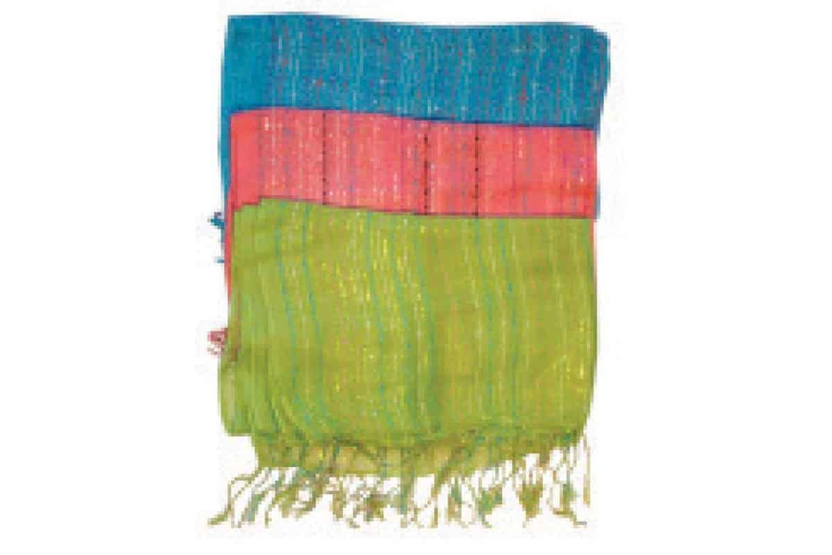 Thin Cotton Loose Wave Scarf with Lurex