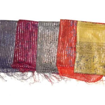 Thin Cotton Scarf with Lurex Thread