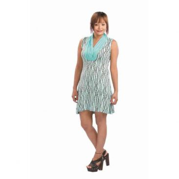 bead print night on the town dress