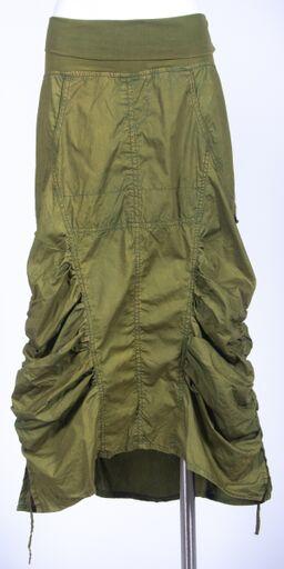 Aesthetically Astonishing Stone Wash Skirt With Pockets