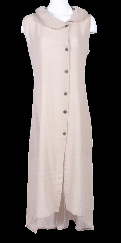 Cotton Crepe Long Dress